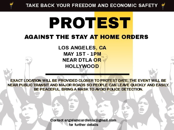 Protest Flyer for May 1st